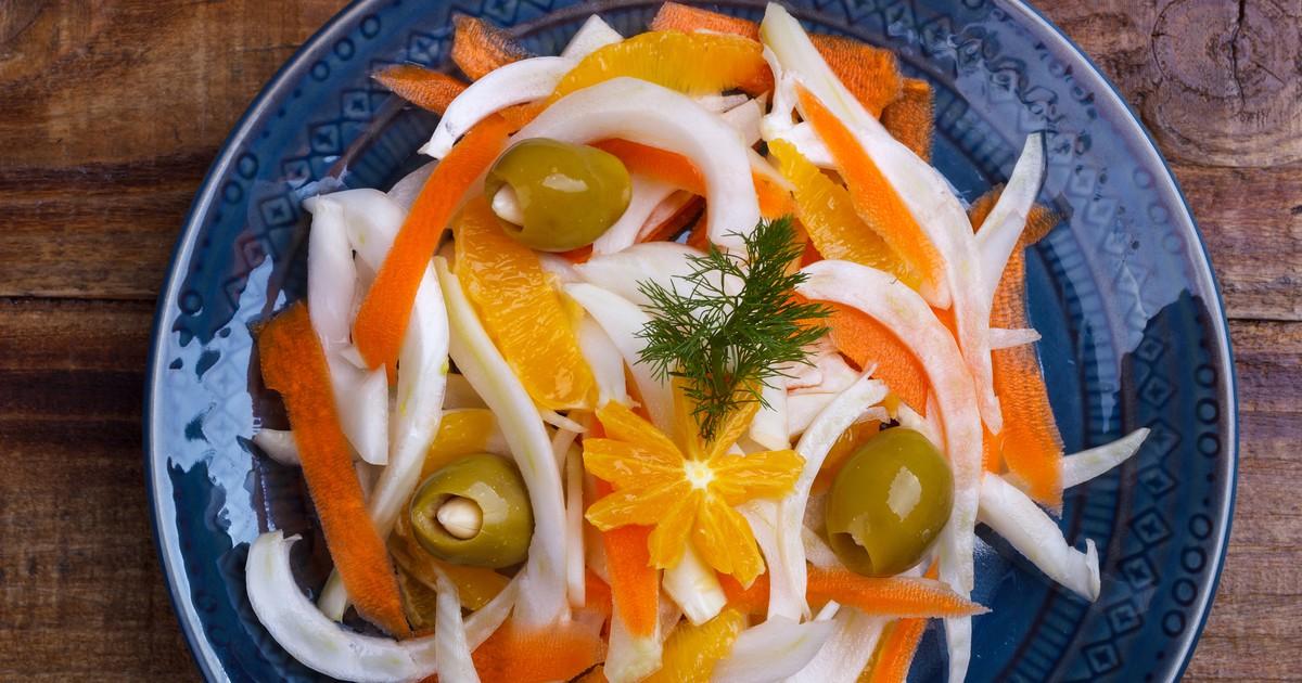 Фото Салат из фенхеля и апельсинов