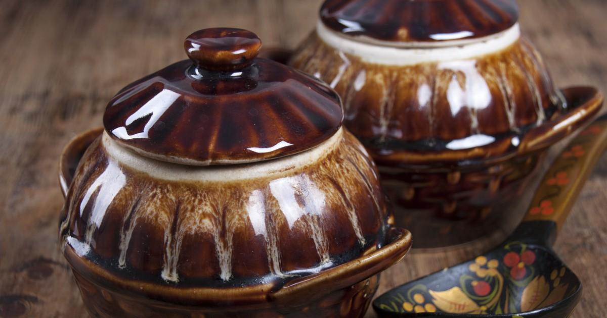 Фото Говядина с грибами в горшочках