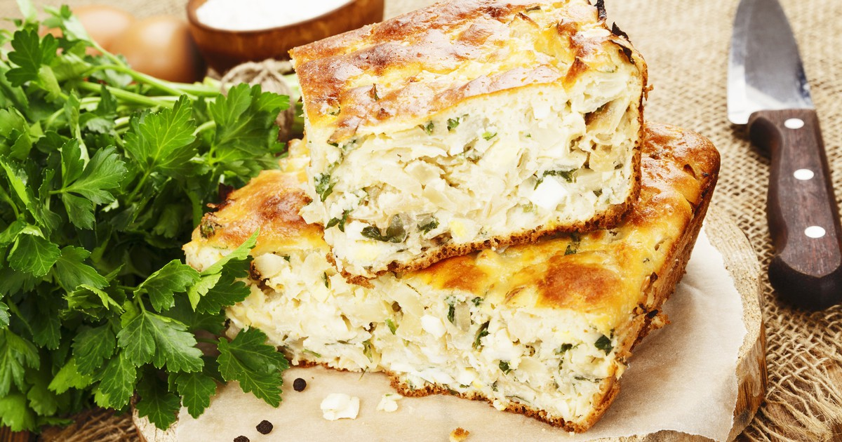 Фото Пышный пирог с яйцами и капустой
