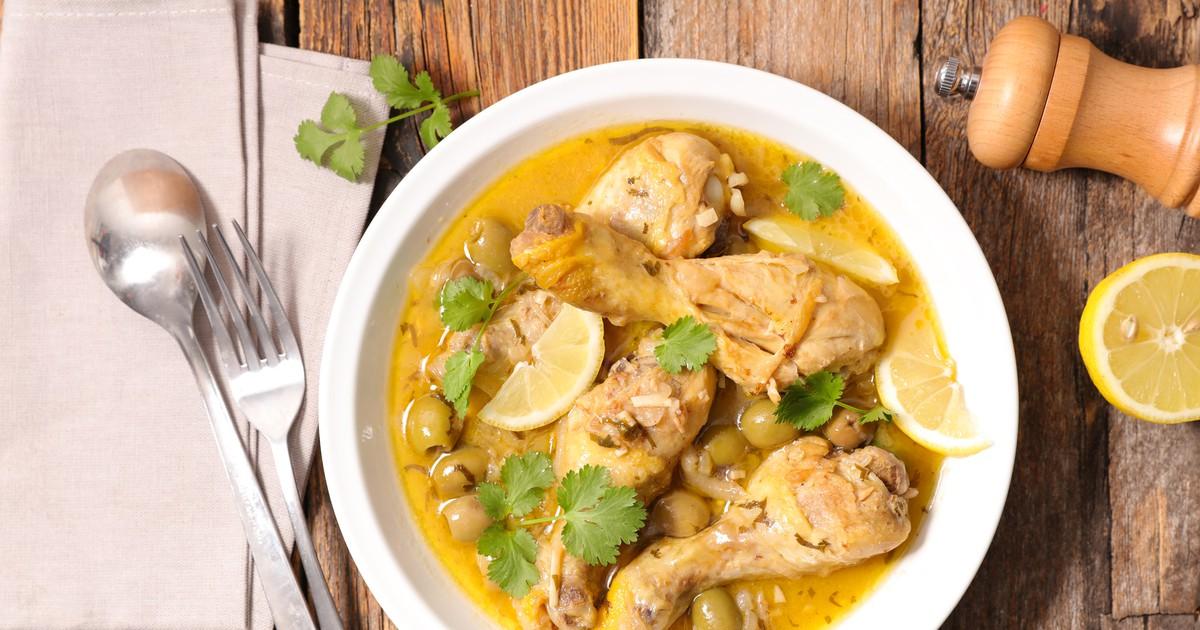 Фото Блюдо из курицы марокканской кухни с изумительным вкусом.