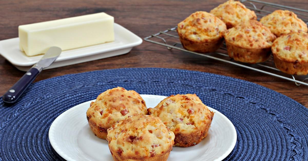 Фото Маффины с сыром и беконом