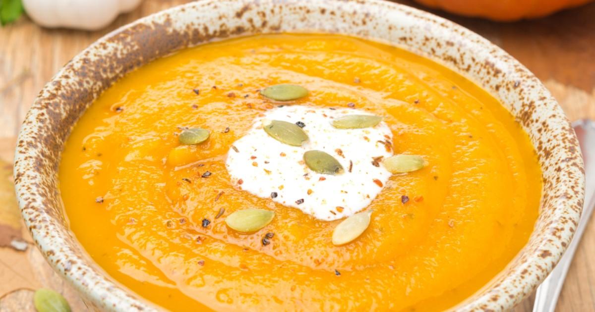 Фото Бархатистый тыквенный крем-суп