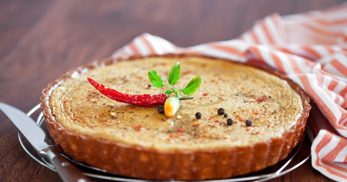 Фото Закусочный тарт с куриной печенью
