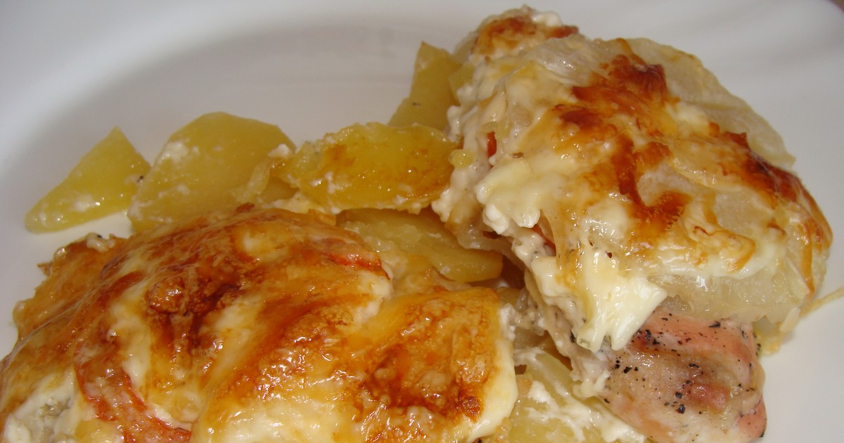 Фото Куриное филе с картофелем и ананасами – идеальный ужин!