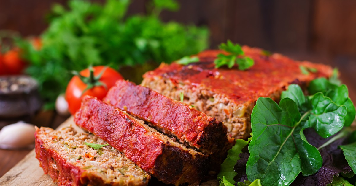 Фото Митлоф: мясной хлеб с овощами по-американски