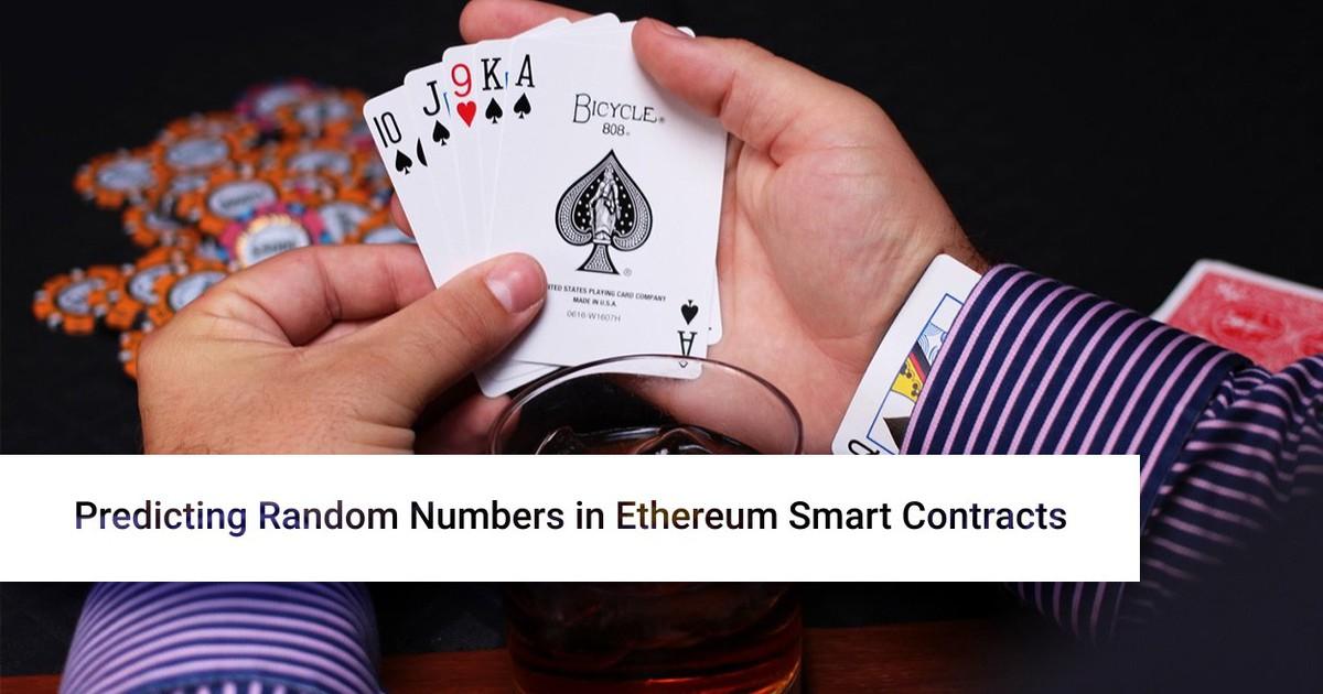 Фото [Перевод] Предсказание случайных чисел в умных контрактах Ethereum