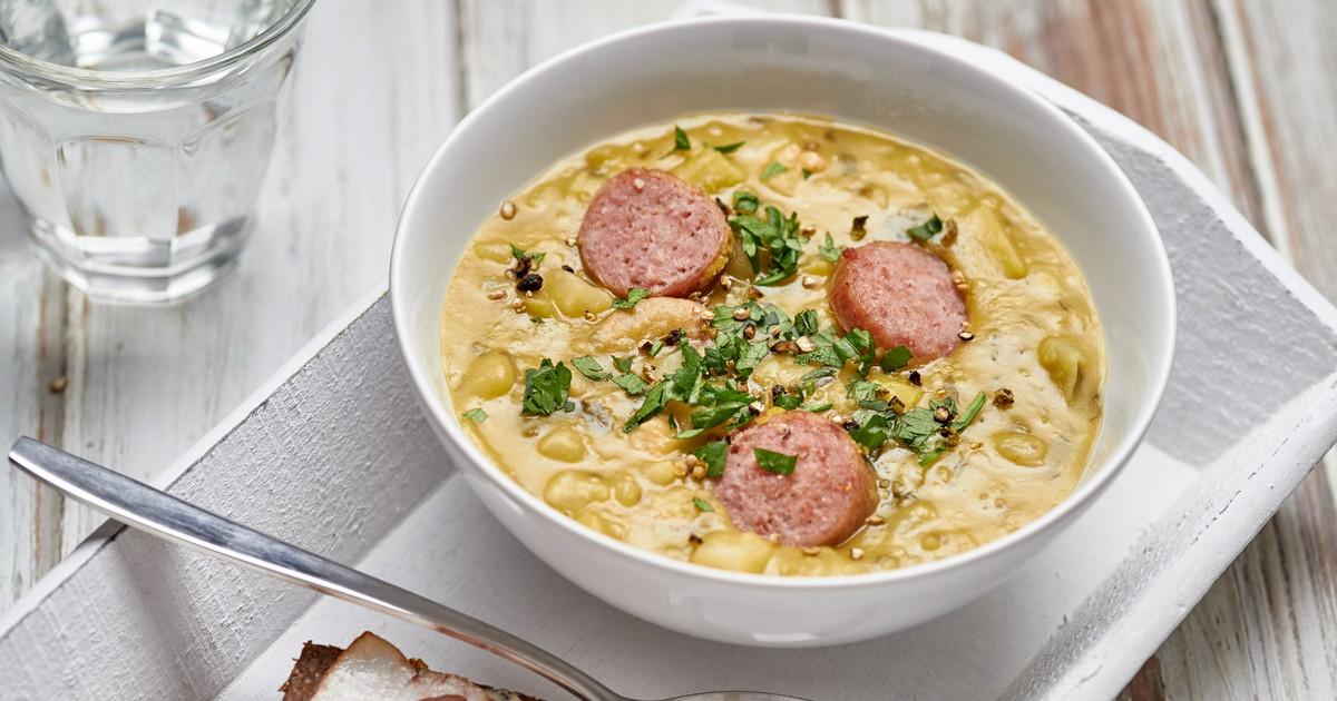 Фото Снерт - голландский гороховый суп с копчёностями