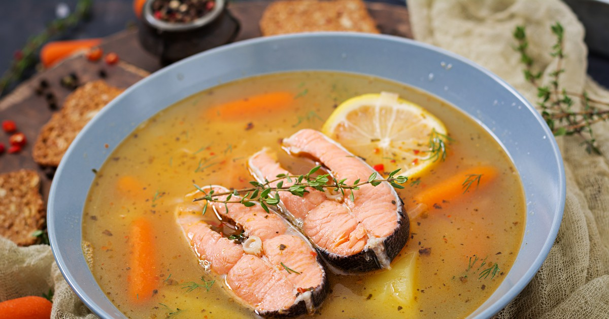 Фото Суп из красной рыбы