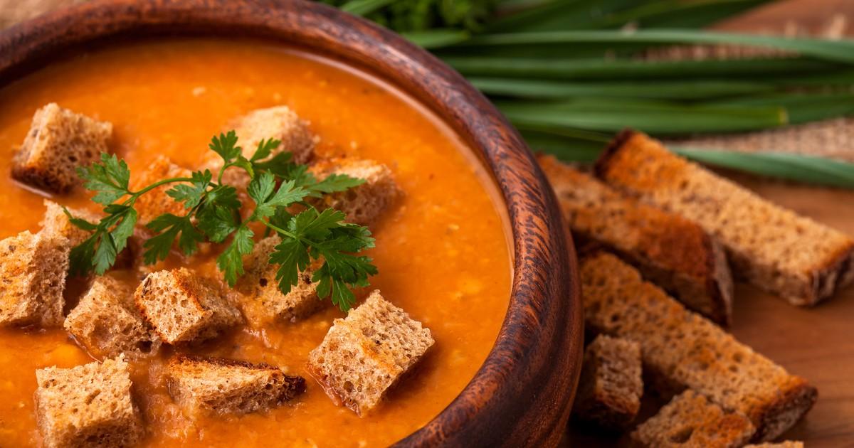 Фото Постный суп-пюре из чечевицы – ну очень вкусный!