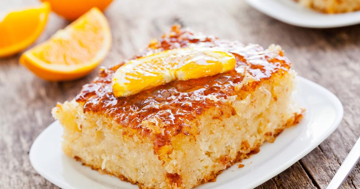 Фото Домашний апельсиновый пирог