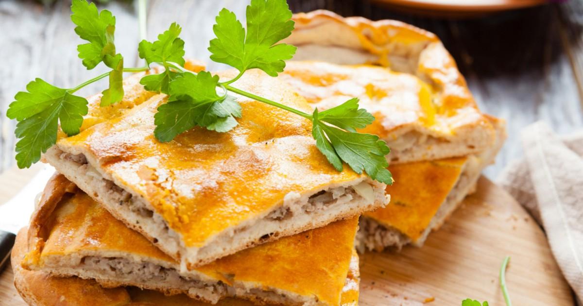 Фото Вкусный и простой пирог с мясом