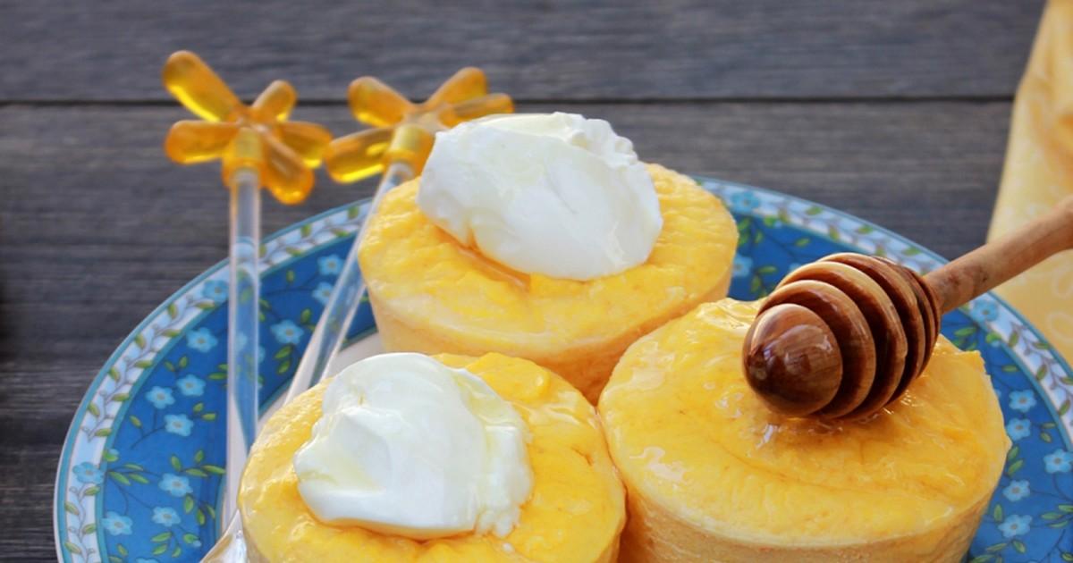 Фото Вкуснейшее творожно-фруктовое суфле за 5 минут