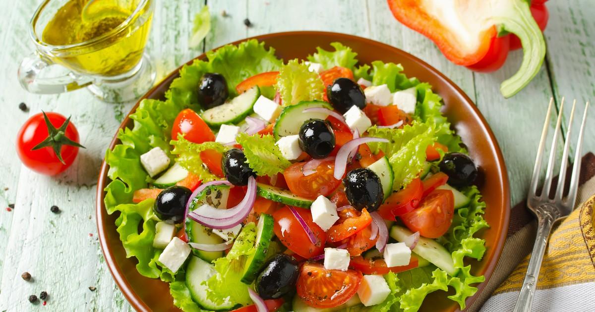 Фото Сочный греческий салат