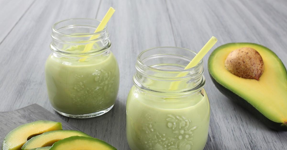 Фото Вкусный и полезный смузи из авокадо