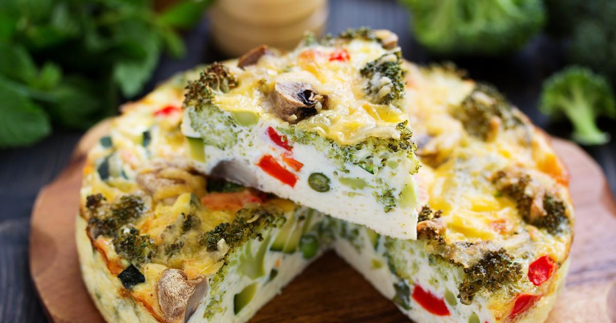 Фото Ленивая запеканка с грибами и овощами