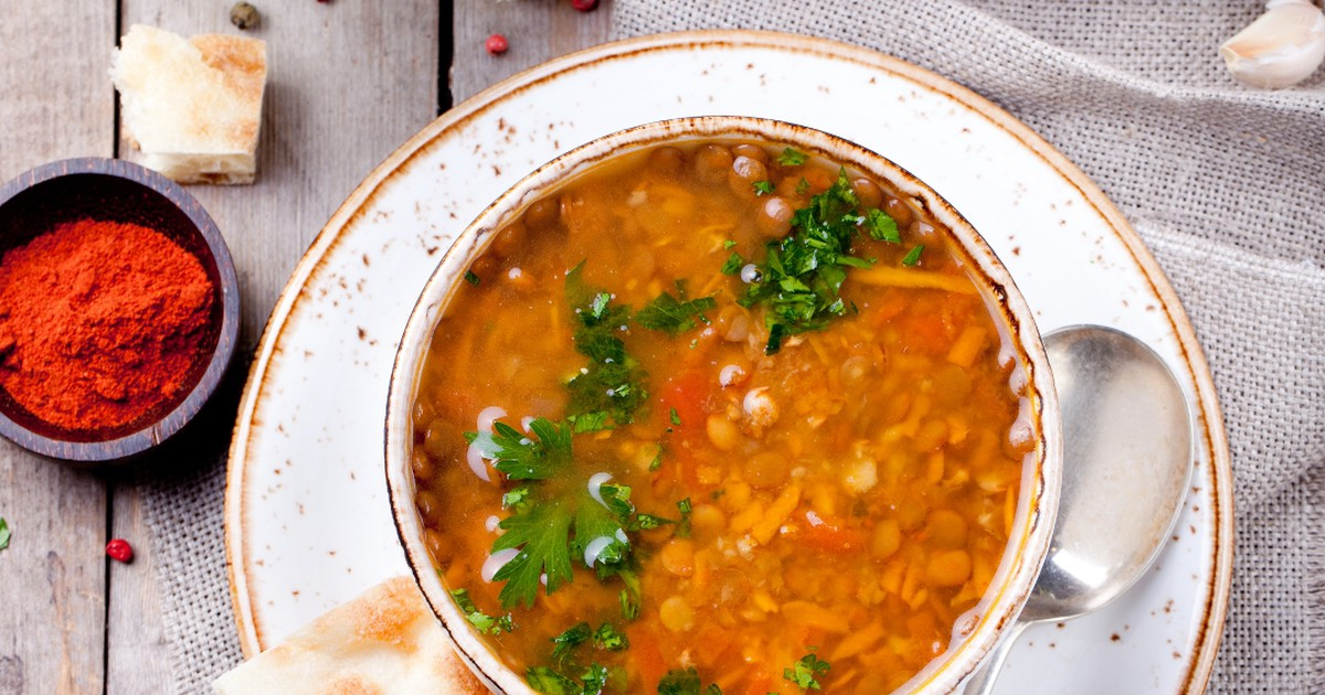 Фото Ароматный чечевичный суп