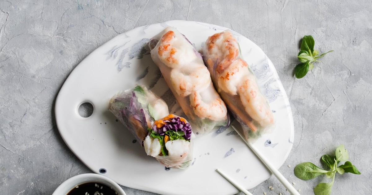 Фото Вкуснейшие спринг-роллы с креветками