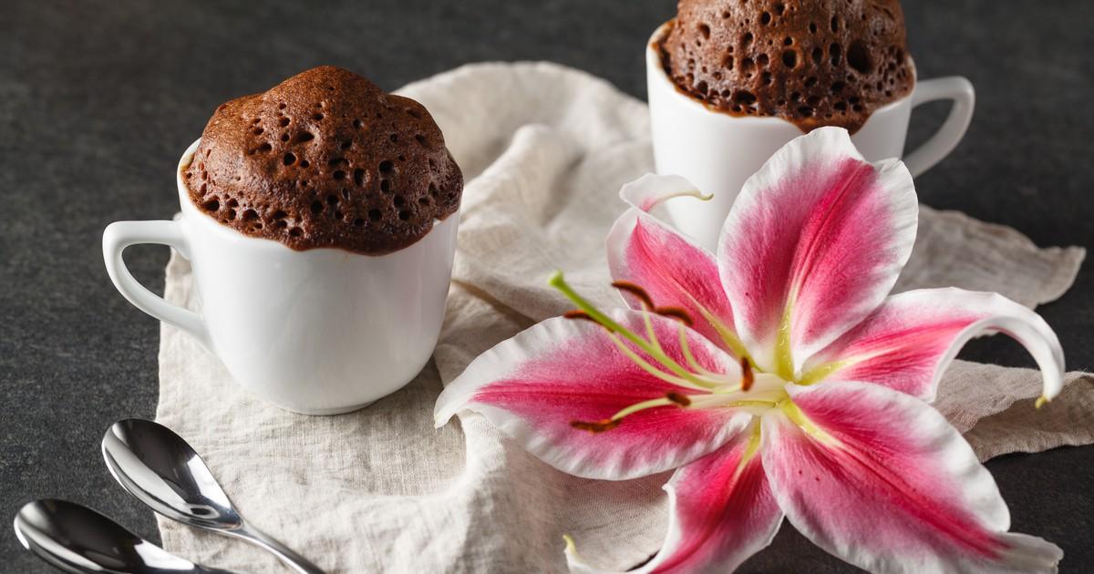 Фото Шоколадный кекс в микроволновке за 5 минут