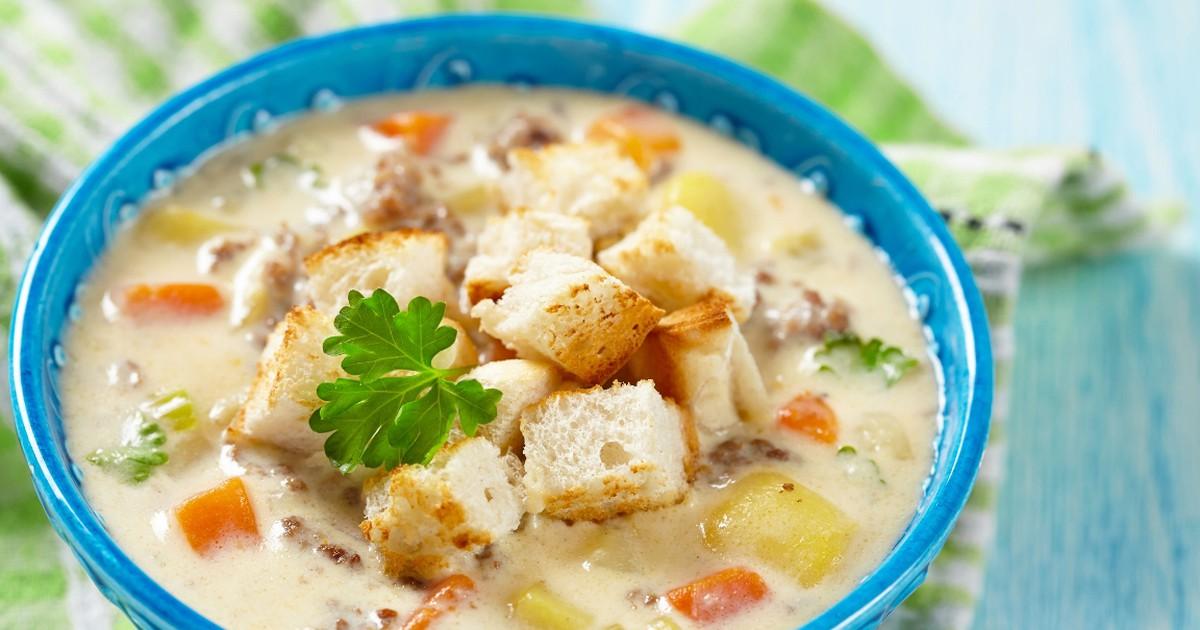 Фото Аппетитный суп с плавлеными сырками