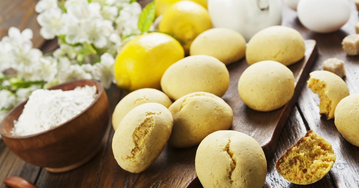 Фото Лимонное печенье с куркумой