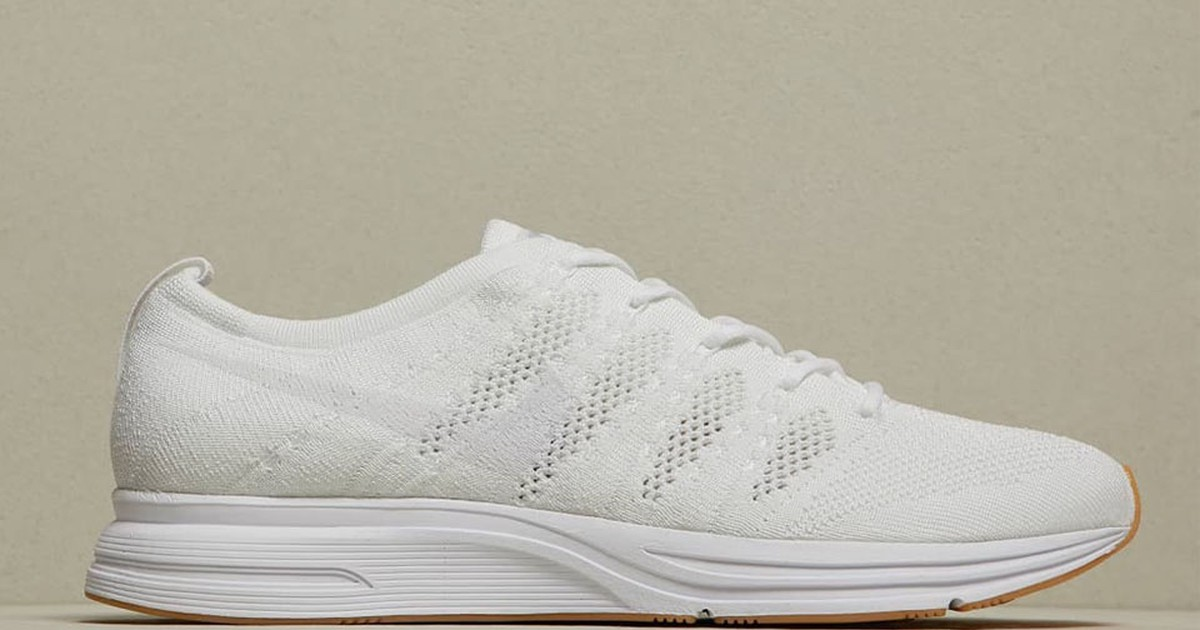 Photo of Nike's All-White Flyknit Trainer With Gum Sole Drops Tomorrow