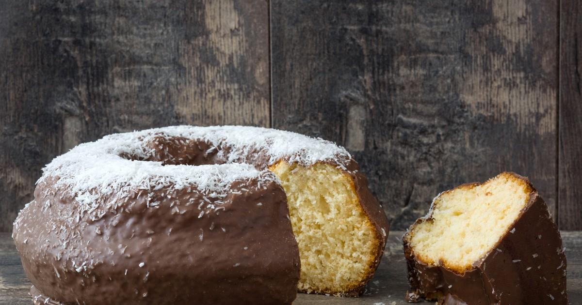 Фото Кокосовый кекс в шоколаде