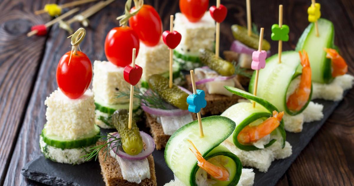 Фото Подборка самых вкусных канапе на шпажках на праздничный стол