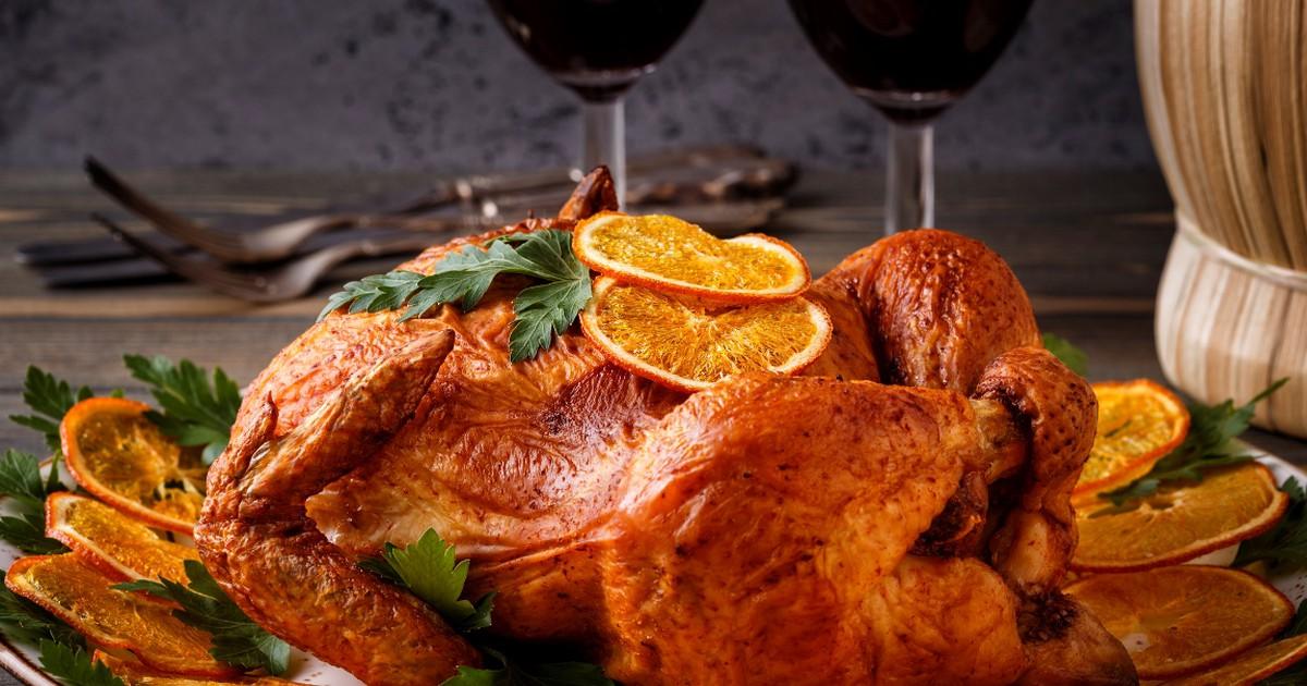Фото Вкуснейшая курица, запеченная с имбирем и апельсинами