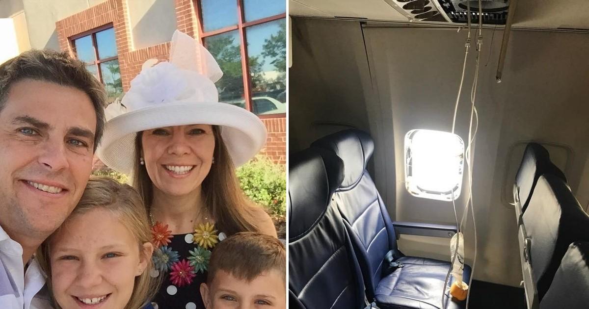 Фото Мать двоих детей вытянуло в иллюминатор после взрыва двигателей самолета