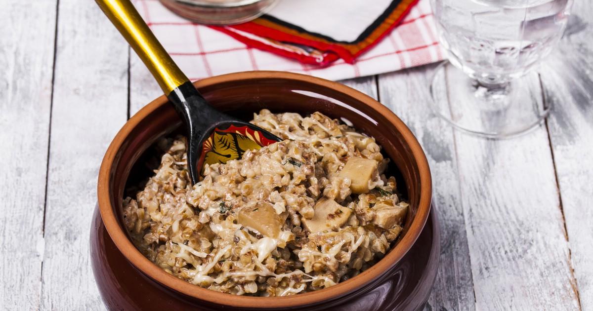 Фото Гречневая каша с грибами запеченная в духовке