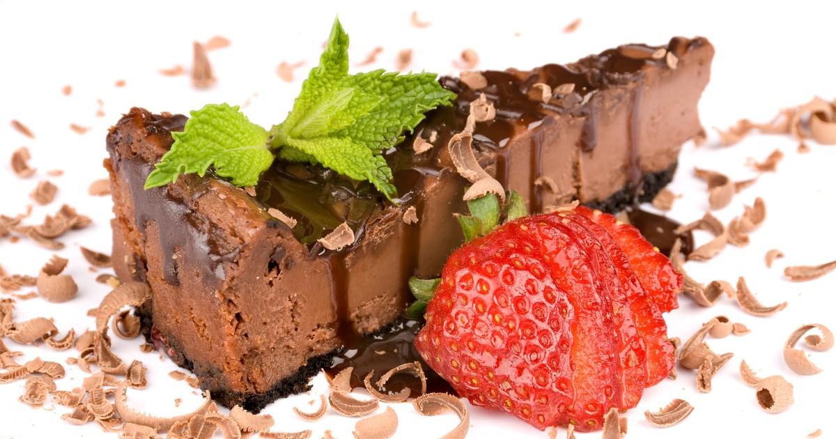 Фото Домашний шоколадный чизкейк без выпечки