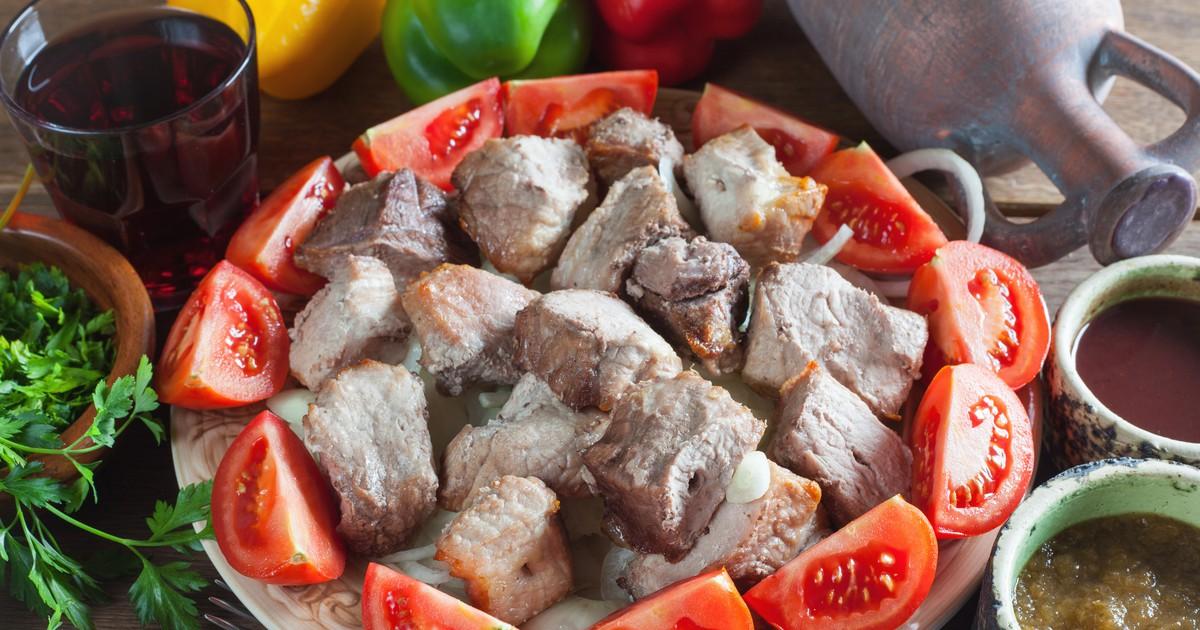 Фото Настоящий шашлык Мцвади – мясо по-кахетински