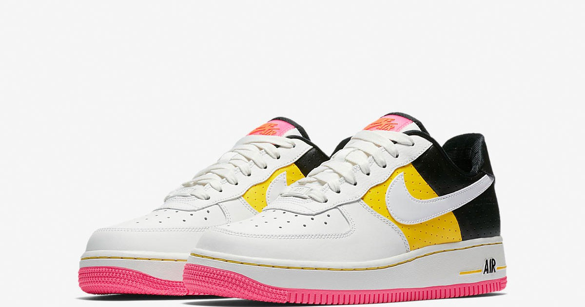 """Photo of Nike Adds Splashes of Pink & Yellow For This """"Moto"""" Air Force 1"""
