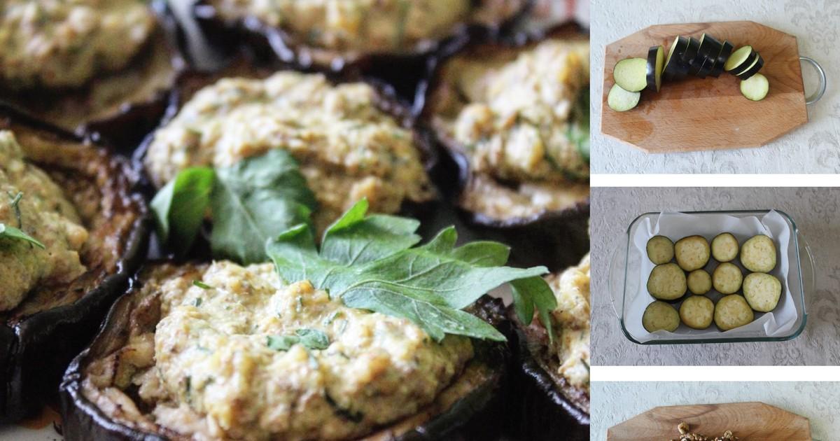 Фото Пошаговый фото-рецепт: Пикантная закуска с баклажанами с соусом Баже