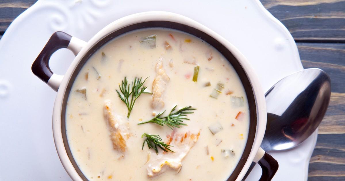 Фото Нежнейший куриный суп с плавленым сырком
