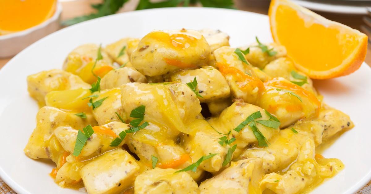 Фото Куриное филе в апельсиновом соусе