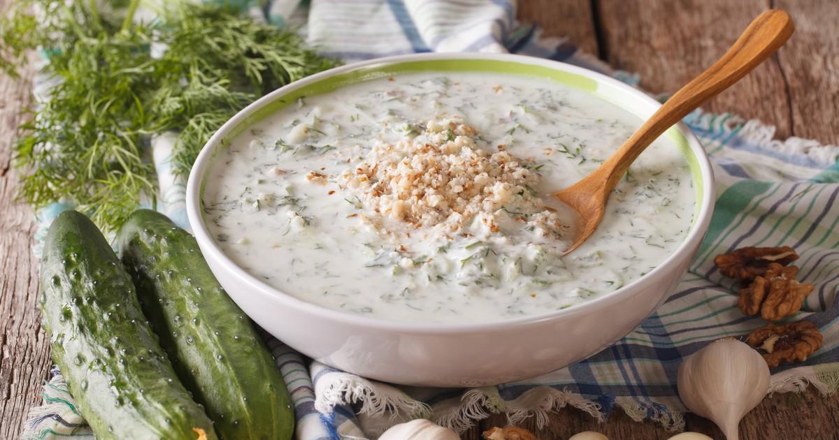 """Фото Холодный болгарский суп """"Таратор"""""""
