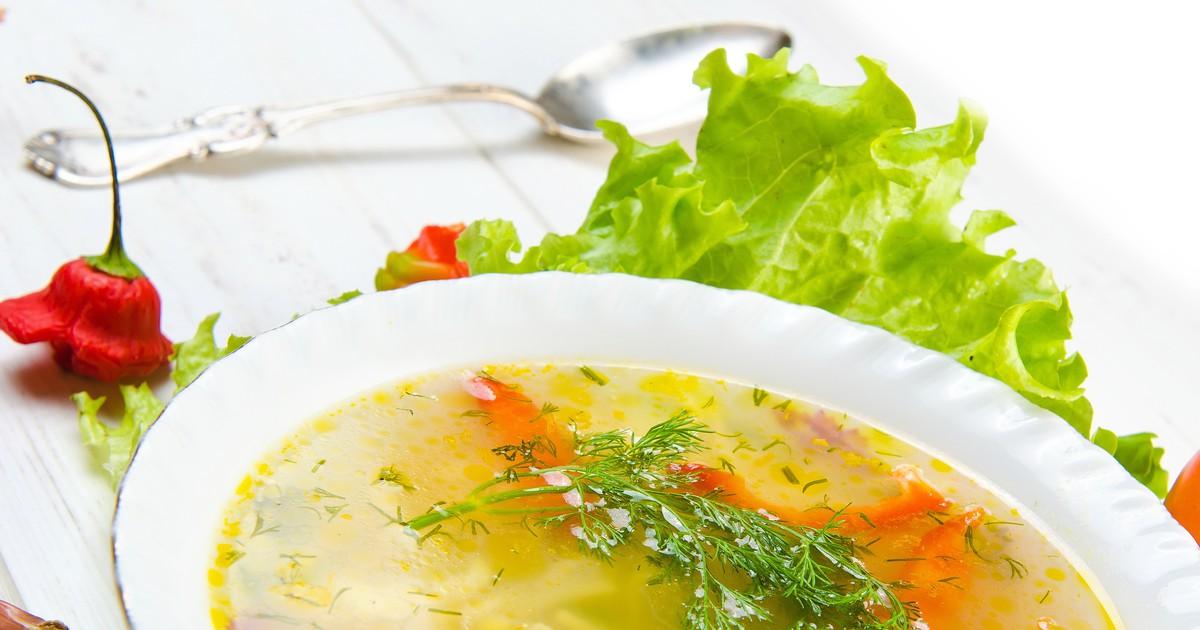 Фото Куриный суп с овощами