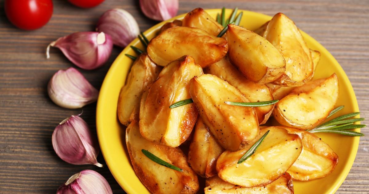 Фото Запечённый картофель в соевом соусе