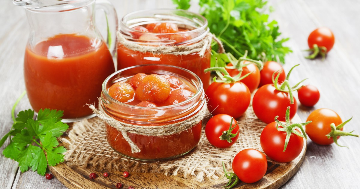 Фото Помидоры в томатном соке на зиму