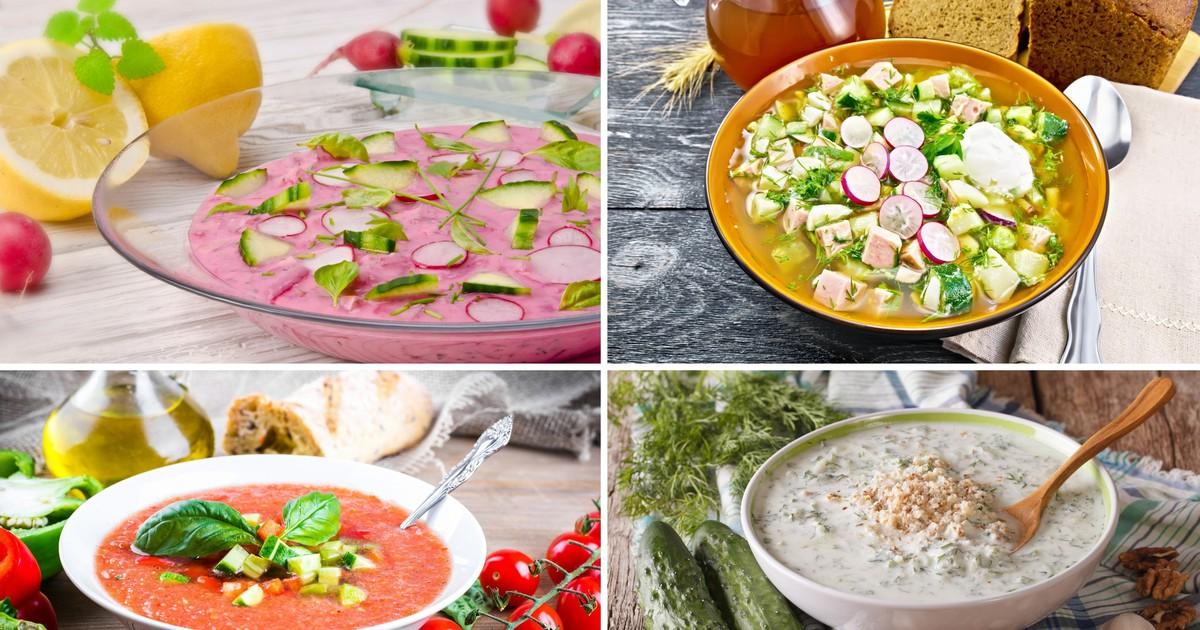 Фото Подборка самых популярных холодных супов на любой вкус
