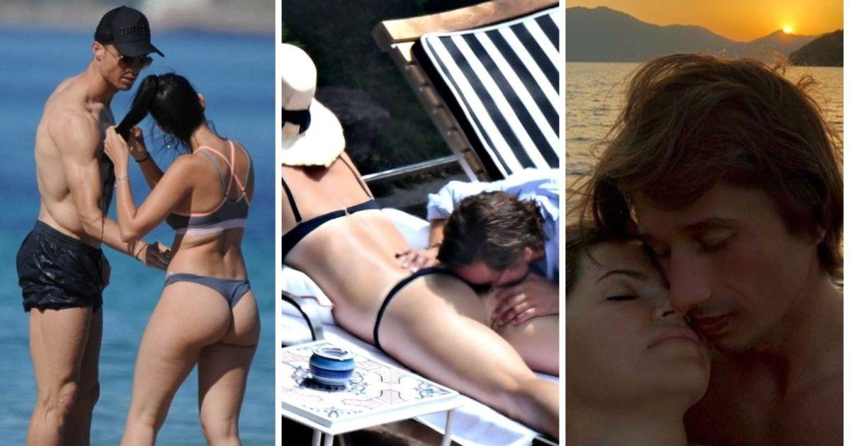 Фото Поцелуй в ягодицу. Как забавляются звездные любовники на пляже (31 ФОТО)