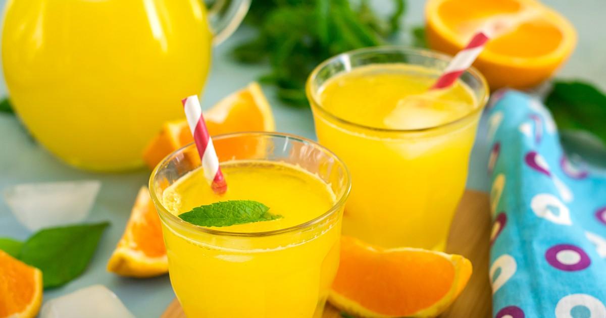 Фото Апельсиновый лимонад без сахара