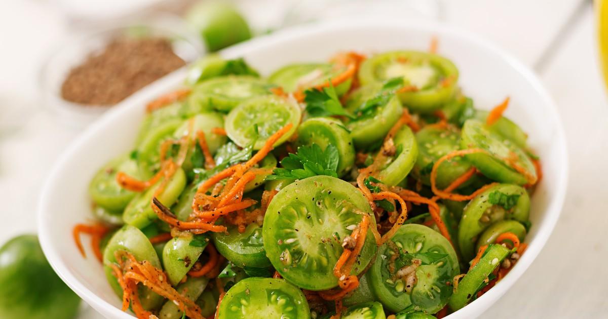 Фото Зелёные помидоры по-корейски
