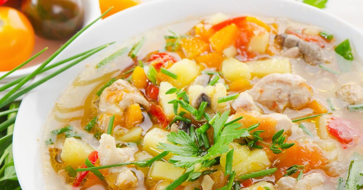 Фото Летний суп с овощами