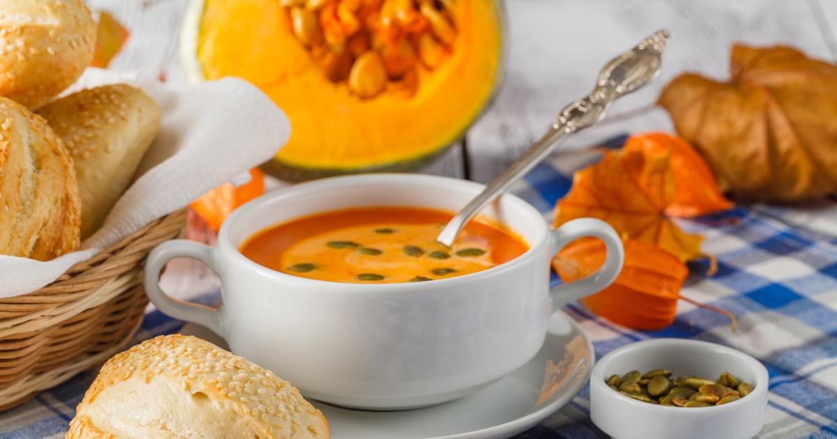 Фото Сливочный крем-суп из тыквы