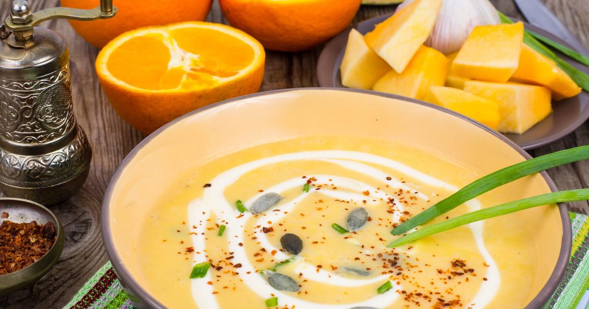 Фото Тыквенный суп-пюре с апельсином