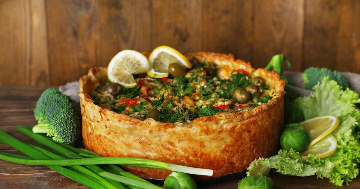 Фото Овощной пирог с брокколи