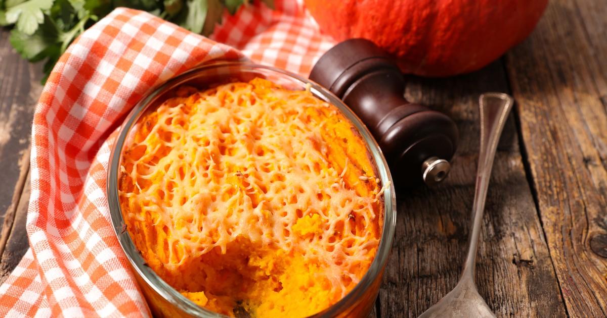 Фото Гратен из картофеля и тыквы