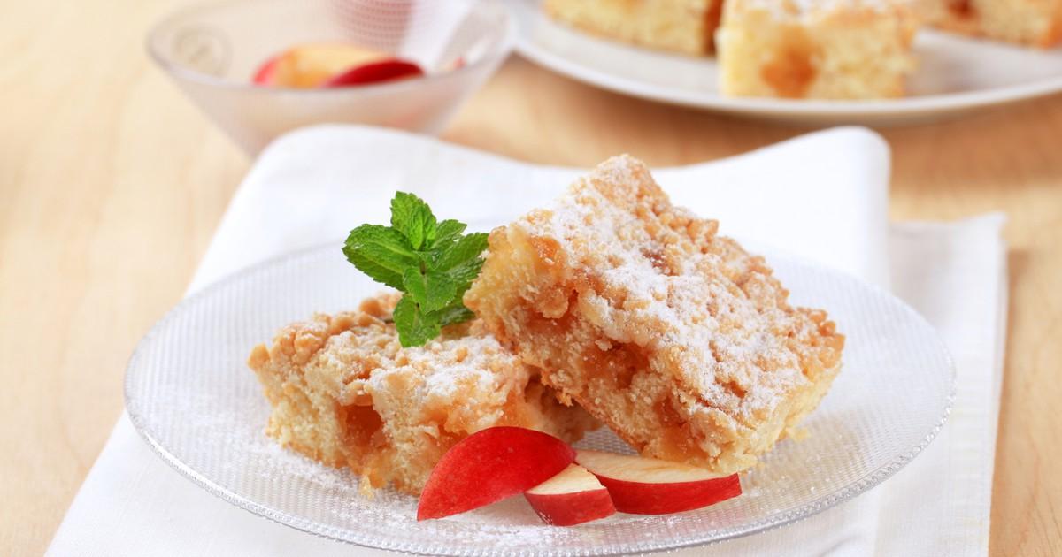 Фото Яблочный пирог с крошкой